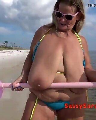 Sarah 40m anhebt sich ein Pärchen der Heben