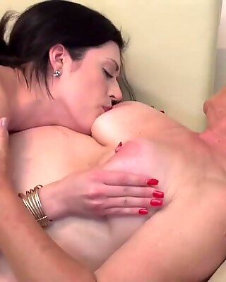 Granny kiss lick and fuck young girl