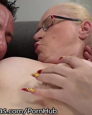 LustyGrandmas internal ejaculation for kinky Mature GILF!