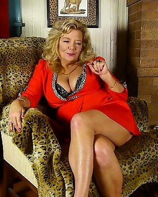 Kinky grandma with big tits and hairy pussy