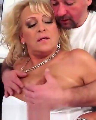 Dicksucking Euro Oma Gerammelt von Fett Schwanz