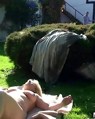 Wife caught her busty old mother riding his cock