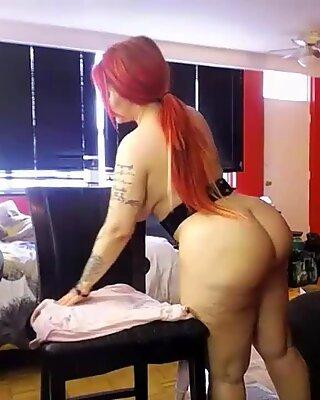 Redhead pawg pleasuring with lush