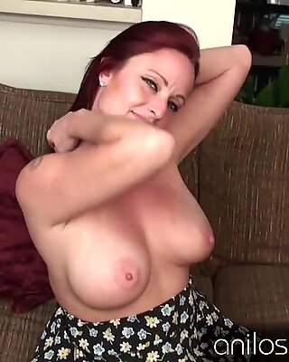 huge-chested red-haired milf waiting for your hard cock