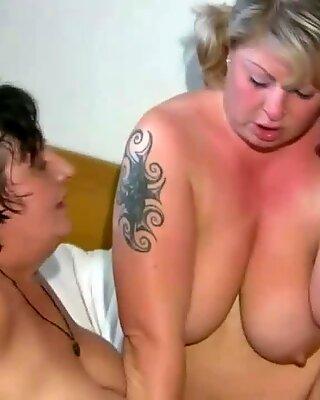 Grannies Fancy a Large black dildo