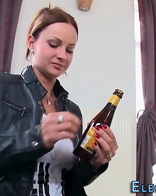 Glam european anal fucked