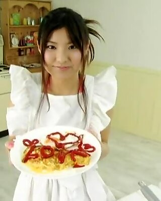 Torrid cook Miri Hanai desires to have a hot continuation after the dinner