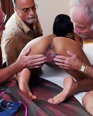 Reif Garage Blasen und enge Teenie Amateur Pussy von Alter Mann Staycation mit einem - Nikki Kay gepflügt
