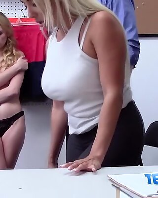 Blonde shoplifter babes don t have any other alternative.