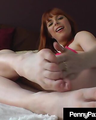 Hot Young Penny Pax Teases Your Cock With Stocking Clad Feet