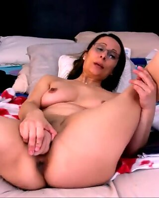 elder abnormal mummy With Glasses Dirty Talk with Toy Live
