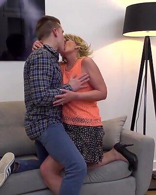 Granny sex Katalina seduce and fuck young boy