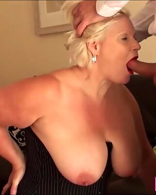 Dominated Gran Lacey Starr Gets Throated