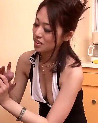 Ann Yabuki works 2 lollipops like a goddess in point of view  - More at Slurpjp.com