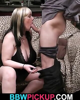 Blonde faty is picked up for big cock riding