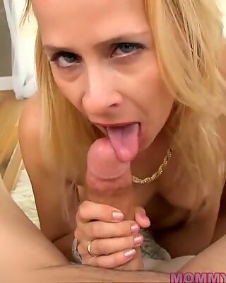 Blonde Milf Peyton Leigh Has A Warm Mouth For Cock
