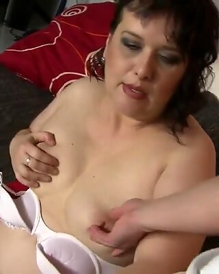 Chubby mature MOM fucking her boy in POV style