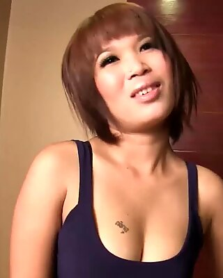 Thai Brunette Fucked in Doggystyle
