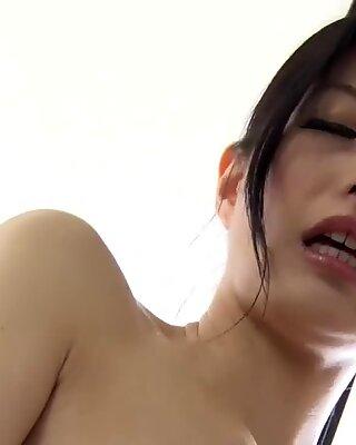 Asian milf getting a steamy orgasm