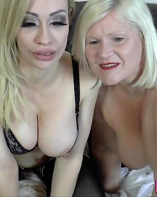 Pensioner eats blonde
