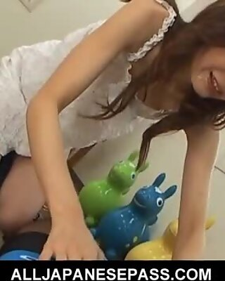 Horny Japanese MILF has a blast sucking two guys