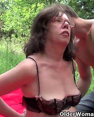 grandma Gets Her bulls eye invaded Outdoors