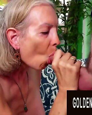 Golden Slut - Blonde Beauties Mature Sex Oral Compilație Partea 1